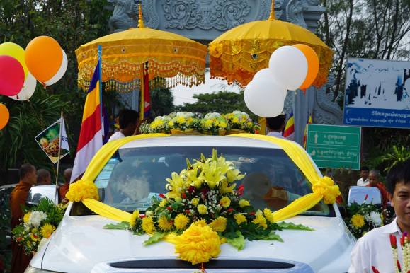 Decorated car in the parade.